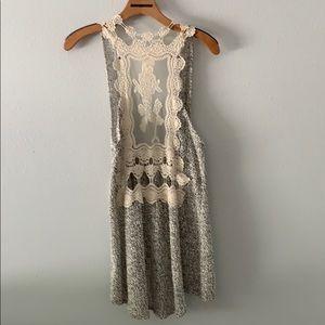 Blu Pepper Other - Blu-Pepper light  cover vest.  Gray & White , lace
